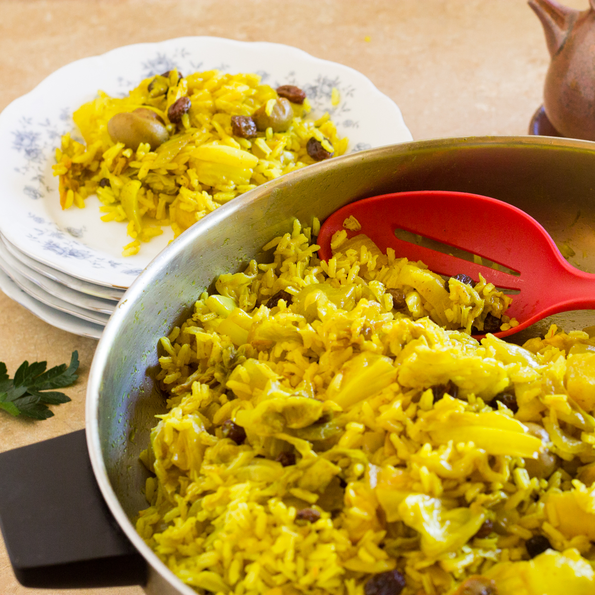 Curry Cabbage and Rice from India » The Joy of an Empty Pot
